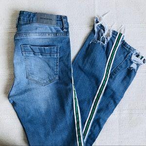 ZARA Ankle Fray Jeans Size 2